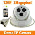 New Arrival  1MP Mini Dome IP Camera 2 Powerful Array LED Indoor  Network IP Camera Support  Motion Detection