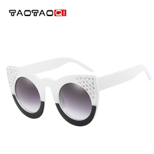TAOTAOQI Luxury Women Plastic Water Drill Frame Cat Eye Sung