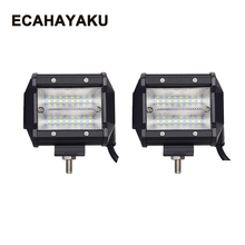 ECAHAYAKU 2x Led work Light Bar 48W 4 inch Led Bar for Tractor Boat Offroad 4WD 4x4 Truck SUV ATV 12V 24V Auto Driving fog Light weketory 4 36 inch led bar led light bar for car tractor boat offroad off road 4wd 4x4 truck suv atv driving 12v 24v