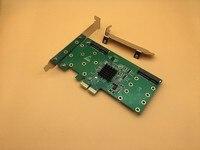 Free Shipping PCIe2 0 To 4Port MSATA SSD Hardware RAID Card Host Adapter NCQ 6Gbps Raid
