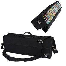 Meeden 120/72/60/48шт Складной  маркер сумка /чехол пустой держатель для copic Prismacolor Touch Spectrum Noir маркеров хранения