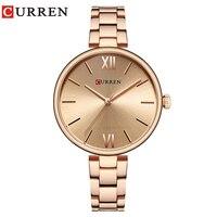 CURREN 9017 Watch Women Top Brand Luxury Wristwatches Ladies reloj mujer Gift relogio feminino Fashion Rose Glod Clock Hot 2019