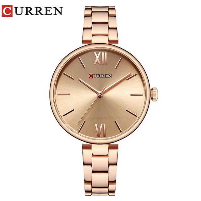 CURREN 9017 Women Watch New Quartz Top Brand Luxury Fashion Wristwatches Ladies