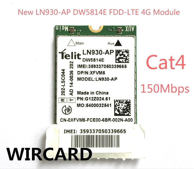 New LN930-AP DW5814E 4G Module FDD-LTE Card for Dell Laptop