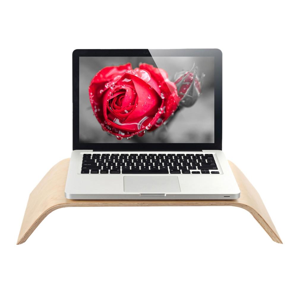 SAMDI Universal Desktop Computer Monitor Heighten Wooden Stand Dock Holder Display Bracket for iMac PC Notebook