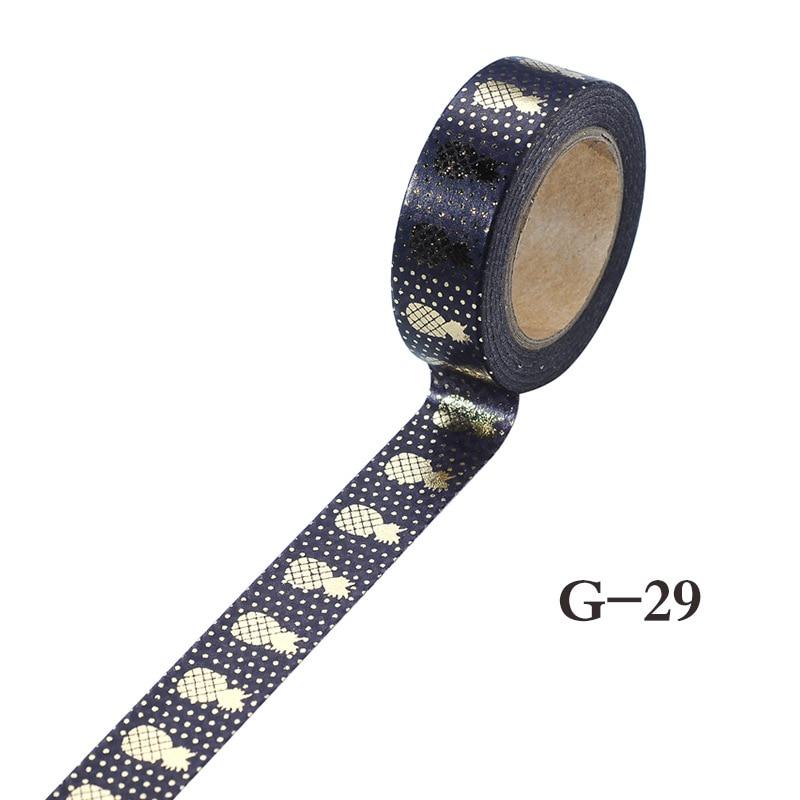 Hotsale Black Stamping Pineapple Fruit Japanese Washi Tape Scrapbooking Tools Papelaria Decorative Masking Tape Lot 15mm*10m
