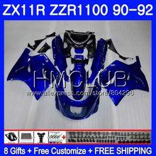 Тело черным пламенем для KAWASAKI NINJA ZX-11R ZZR 1100 ZX11R 90 91 92 13HM. 2 ZZR1100 ZX11 R ZX-11 R ZX 11R 1990 1991 1992 обтекателя