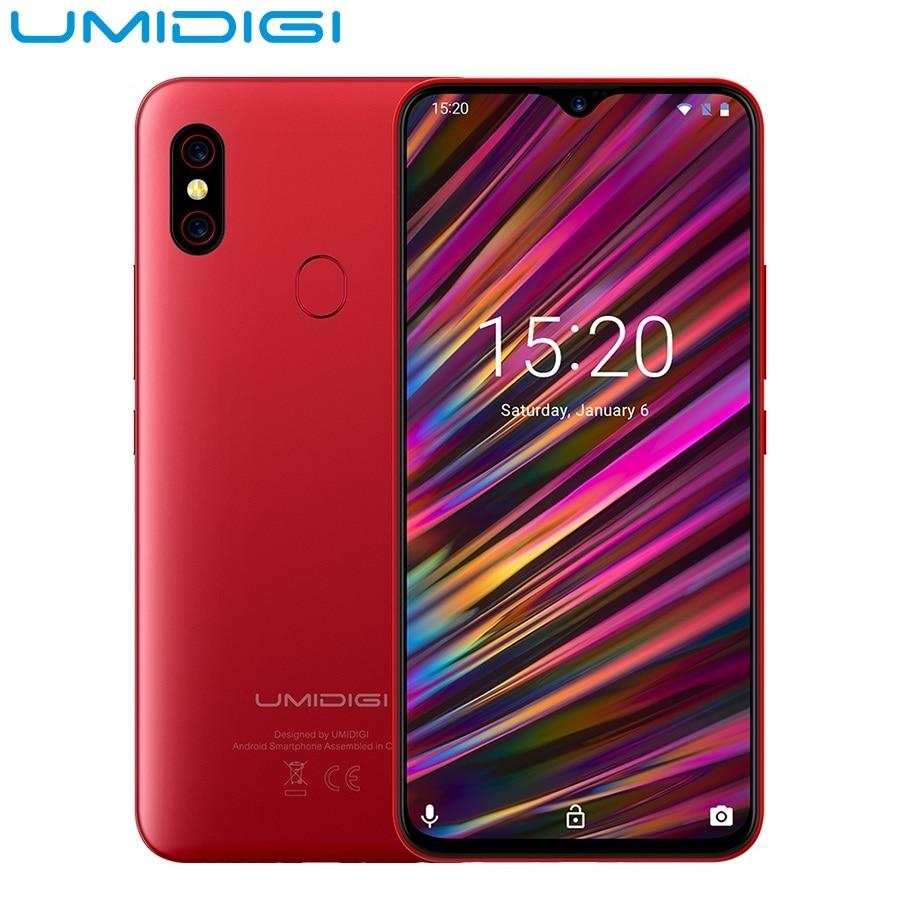UMIDIGI F1 Play 6.3 pouces Android 9.0 4G Phablet Smartphone Helio P60 Octa Core 6 GB RAM 64 GB ROM 3-caméra empreinte digitale téléphone portable
