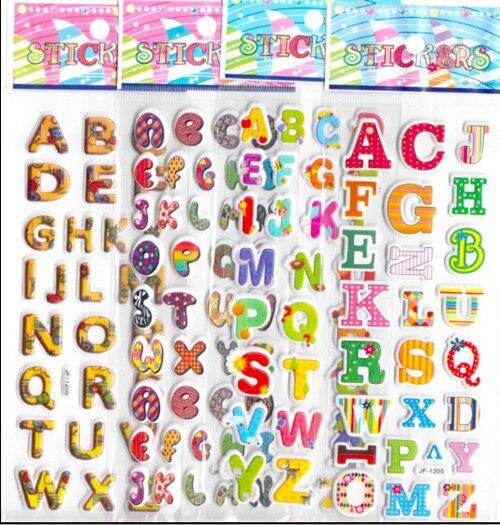 20pcs lot cartoon abc letters 3d foam stickers boys girls preschool
