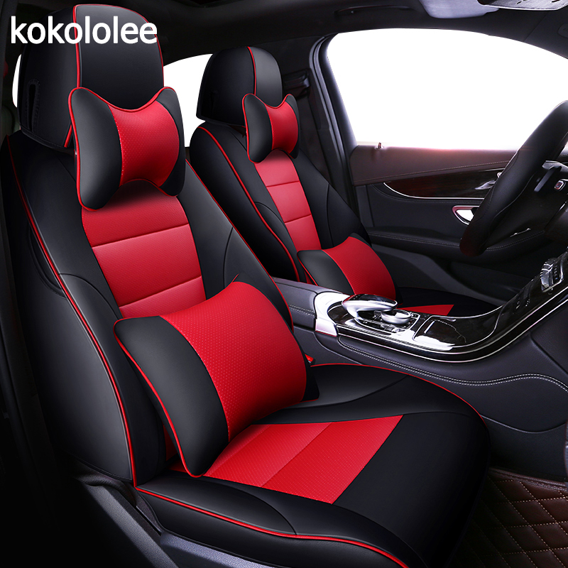 kokololee custom real leather car seat cover for Volkswagen vw Beetle Touareg Tiguan Phaeton EOS Scirocco R36 Multivan car seat