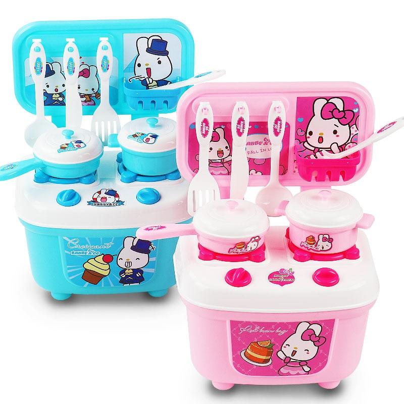 Для девочек и мальчиков игрушки играть дома кухня приготовления моделирования кухня Кулинария игровые наборы детские ребенок играет ...