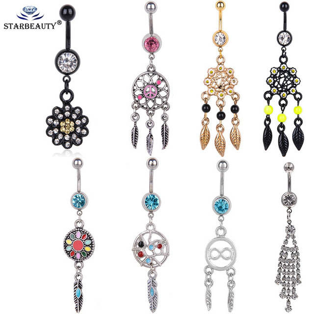 Us 1 3 31 Off Cheap New 1pc Sexy Dangle Belly Bars Belly Button Rings Fashion Surgical Steel Rhinestone Body Jewelry Navel Piercing Rings In Body
