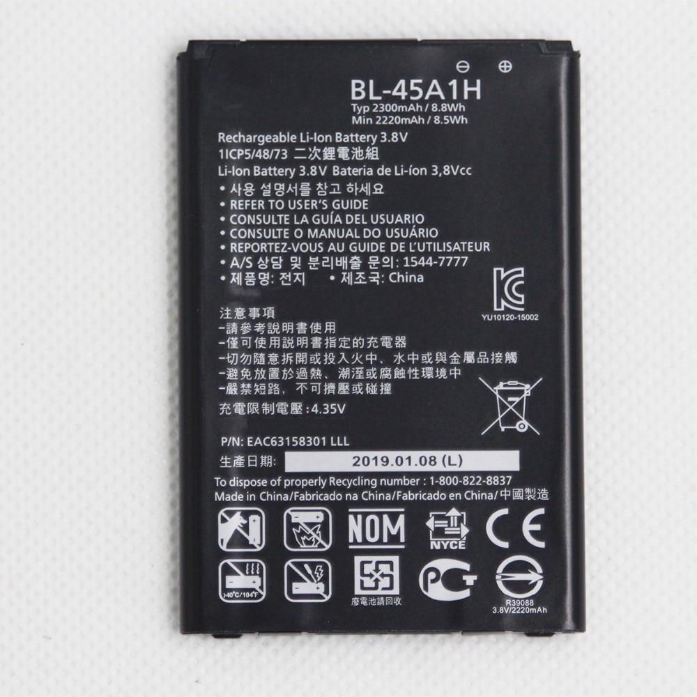 ISUNOO 2300 mAh Bateria para LG K10 BL45A1H BL-45A1H F670L F670K F670S F670 K420N K10 LTE Q10 K420 bateria interna com Presente