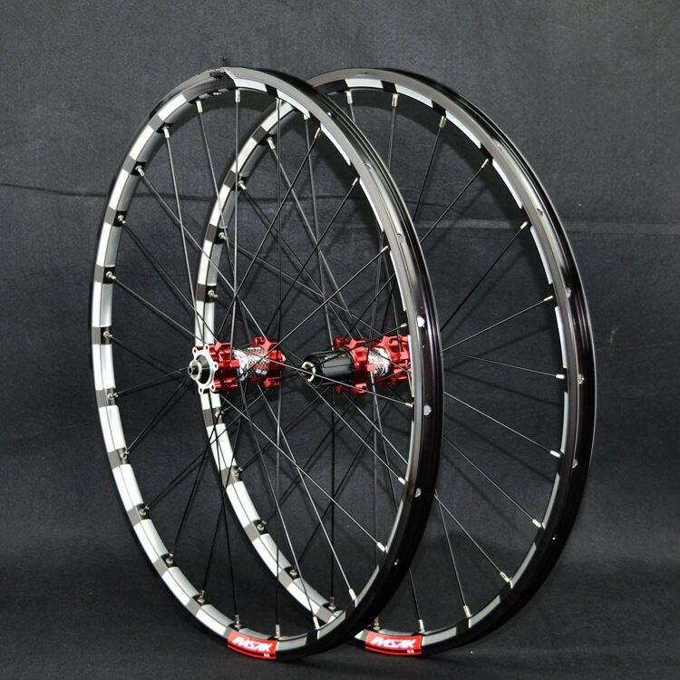 PASAK MTB Mountain Bike Bicycle Milling trilateral CNC bearing hub ultra light wheel wheelset Rim-in Bicycle Wheel from Sports & Entertainment    2