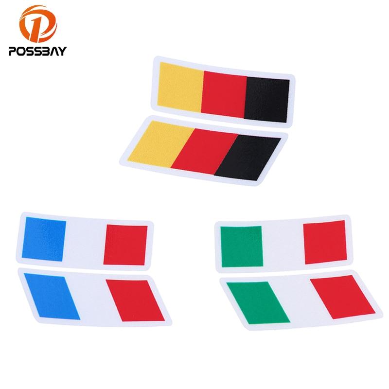 POSSBAY Racing Stripes Stickers French/Italian/German Flag