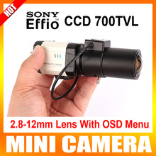 HD 1/3 Sony Effio-E CCD D-WDR Пуля 700TVL 2.8-12 мм Объектив OSD Цифровое Шумоподавление Коробка Безопасности Мини-Камера Для 960 H DVR
