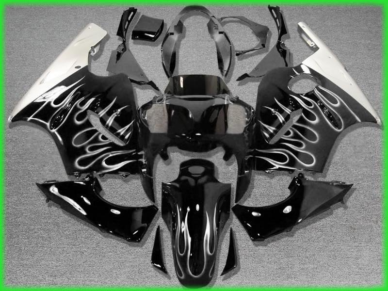 Injection Fairing Bodywork Set Fit For Kawasaki Ninja ZX12R 2000-2001 Gold Flame