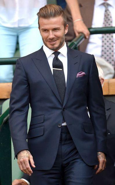 Latest Coat Pant Designs Navy Blue Custom Best Man Wedding Suits For Men  Slim Fit Peaked Lapel Beckham Beach 2 Pieces Terno 548 a2ef88f25c6