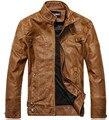 Chaqueta Jaqueta Couro Masculino Бомбардировщиков Кожаные Куртки Пальто Мужчины Мотоцикл Кожаная Куртка Для Мужчин