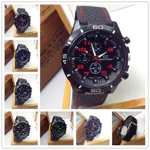 2018 Wholesale Price Fashion Geneva Men Watch Casual Quartz Men Sport Wristwatch Silicone Men Casual Business Wristwatches