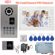 "Wired Intercom For Private House Electronic Doorkeeper IP65 Waterproof Video Doorphone Systems Rfid Cards 7 "" TFT LCD Monitor"