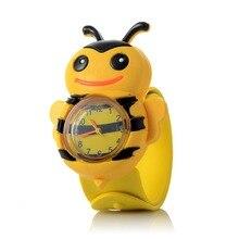 New Cute Cartoon Bee Animal Waterproof Sports Watch Silicone Table Children Boy