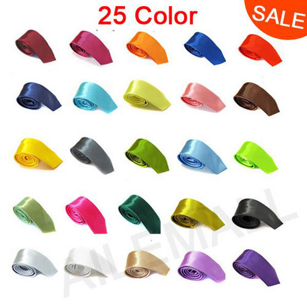 1 PCS/lot New 2013 Skinny Tie for men 5cm Solid Color Plain Necktie