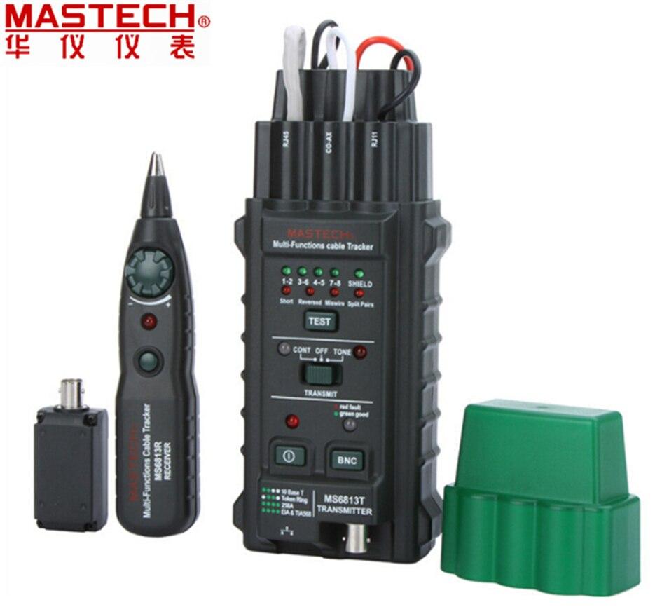 MASTECH MS6813 RJ45 отслеживания кабель finder Телефонный Провод Tracker Tracer тонер сетевой кабель тестер детектор линии Finder