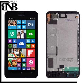 Nokia Lumia 630 Için orijinal 635 LCD Ekran ve dokunmatik ekran digitizer çerçeve Meclisi ile Lumia 630 lcd çerçeve olmadan