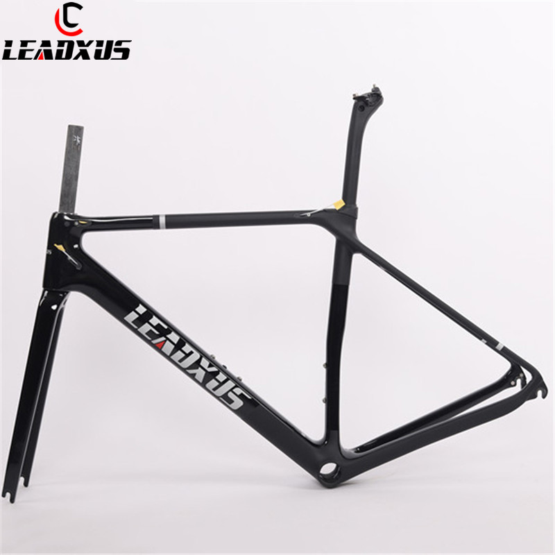 LEADXUS LAM200 Ultra Light Carbon Road Frame T800 Carbon Fiber Road Bike Frame Glossy & Matte Carbon Bicycle Frame