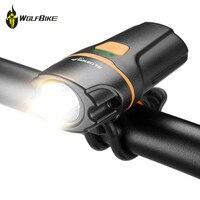 WOSAWE Mini Waterproof Riding Headlight 450 Lumen USB Rechargeable Built In Battery Flashlight Cycling Bike Front