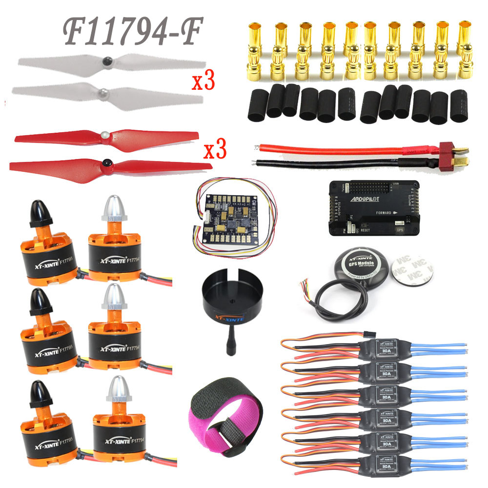 DIY GPS Drone Multicopter Parts: APM PX4 PIX 2.4.8 32 Bit GPS M8N 2212 920KV Motor 30A ESC 9443 Self-locking Propeller F17794-F 6m gps with compass l5883 25cm cable for diy apm 2 8 pix px px4 fpv rc multicopter drone f14588