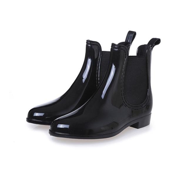 Women Platform Ankle Rain Boots