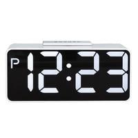 Large LED Digital Alarm Clock Snooze Electronic Desktop Clock Double Modern USB AAA Battery Digital Table