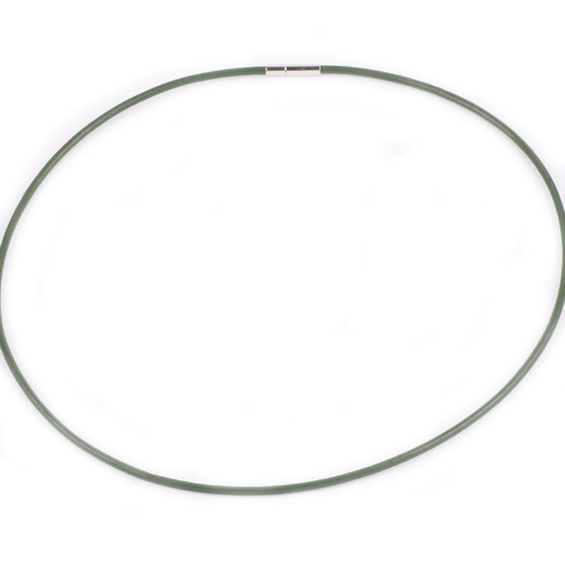 dodocharms Leather&silica gel Cord Lanyard Pendant Stainless Steel Screw Lock Korean Fashion Men's choker Rope Necklace