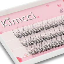 Kimcci 120knots/Case Natural Individual Dovetail Eyelash Extension 3D Mink Cluster Eyelashes Professional Flared Lashes Makeup