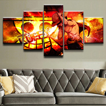 ONE PIECE Anime 5 Piece Canvas Art Modern Home Decor Picture Paintings on Wall for Decorations