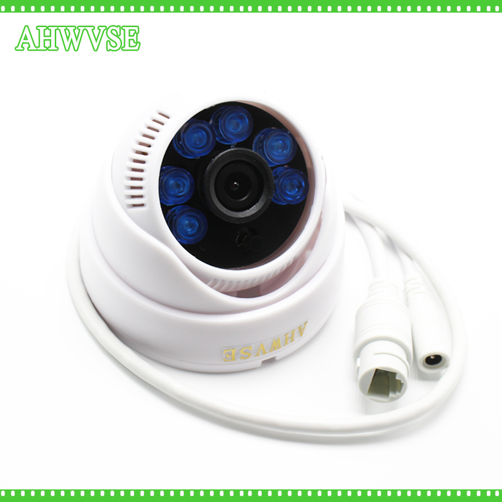AHWVSE HD 1080P POE IP Camera ONVIF Indoor IR CUT Night Vision P2P Plug and Play Mini Dome POE IP Cam 2MP 2pcs lot ip camera poe onvif 2 4 vandalproof dome 3 6mm lens 720p hd 1080p indoor 8m ir night vision security camera ip 2mp