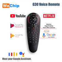 G30 2.4GHz Voice Remote Wireless Keyboard Remote control 33 Keys IR Learning touchpad Learning Air mouse For Android TV Box PC