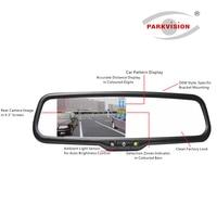 PARKVISION 4 Parking Sensor Vehicle Car Mirror Monitor Kit Reverse Rear View Camera Backup Radar Alarm System Parking Assistance
