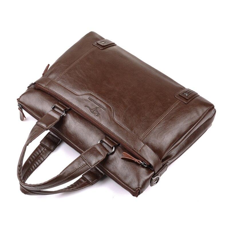 ZYJ Men\`s Business Leather Shoulder Laptop Briefcase Bags Sling Travel Messenger Portfolio Bag Causal Bolsa Lawer Handbag (6)