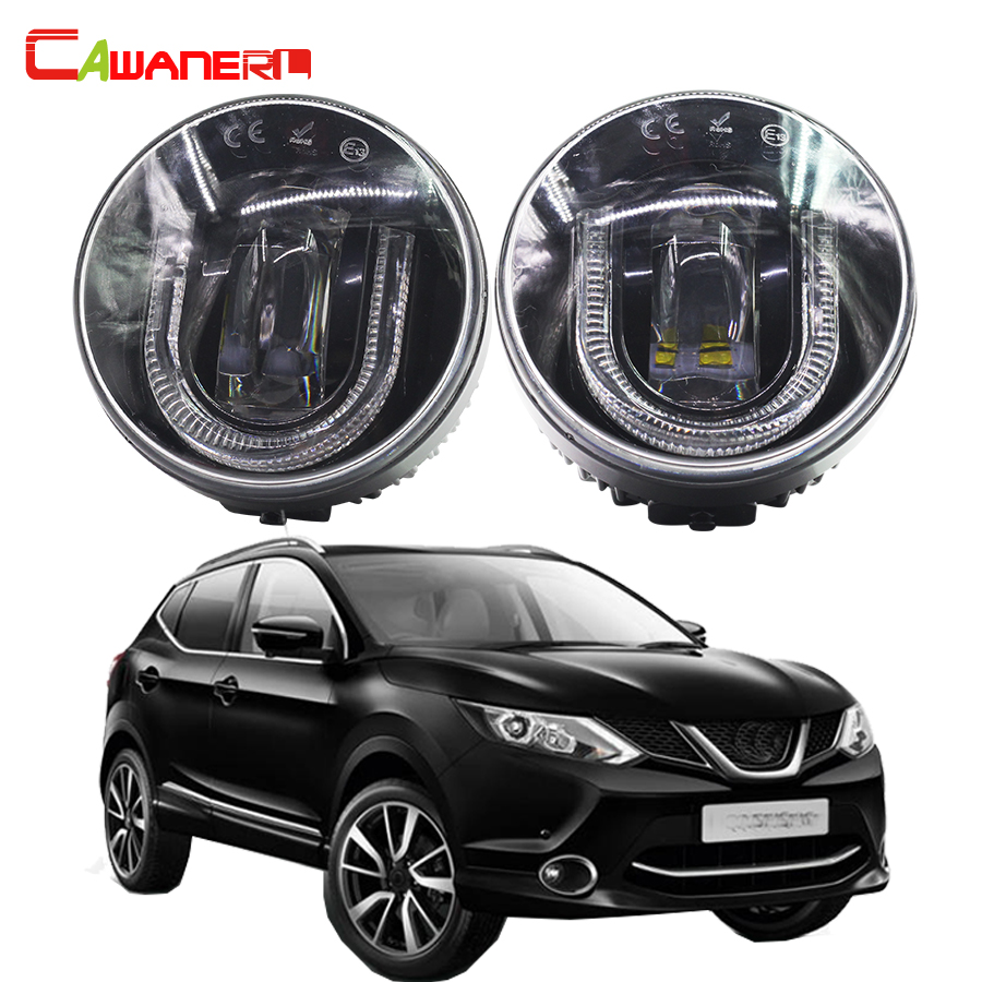 Cawanerl Car Accessories LED Fog Light DRL Daytime Running Lamp For Nissan Qashqai (J11, J11_) Closed Off-Road Vehicle 2013- for nissan patrol y62 armada accessories original design fog lamp with chrome fog light cover