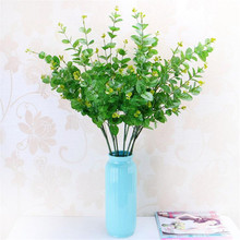 10Pcs Artificial Greenery Simulation Green Plant Eucalyptus Coins Grass Plastic Home Decoration 90cm Long
