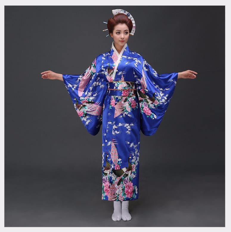 Национальный тренд женщин пикантный Шелковый Атласный кимоно юката с Obi Новинка вечернее платье японский косплей костюм цветок один размер