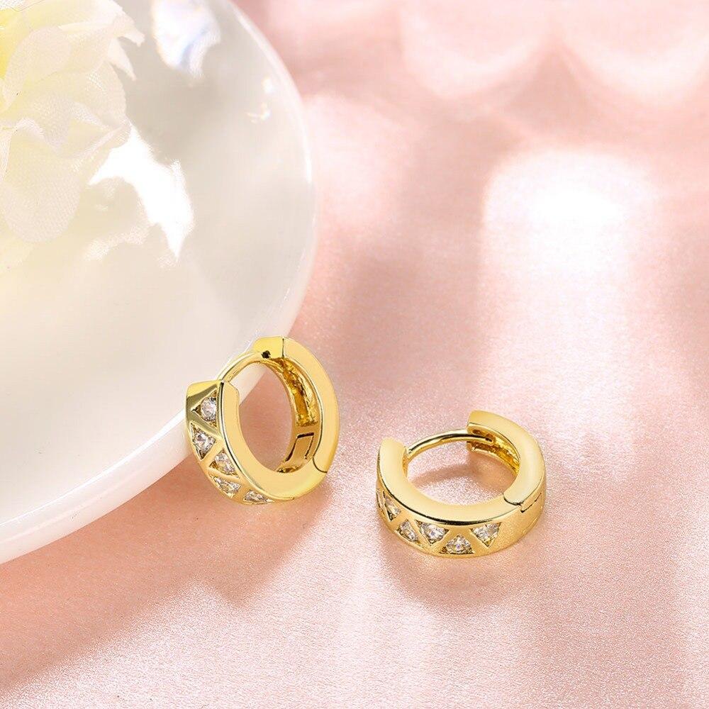 gold plating elegant hoop Earrings V Shape styles for women jewelry ...
