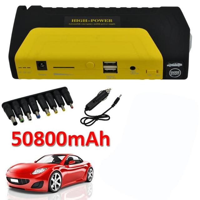 12v 50800mah Car Jump Starter Pack Led Boster Mobile Charger Battery Bank For
