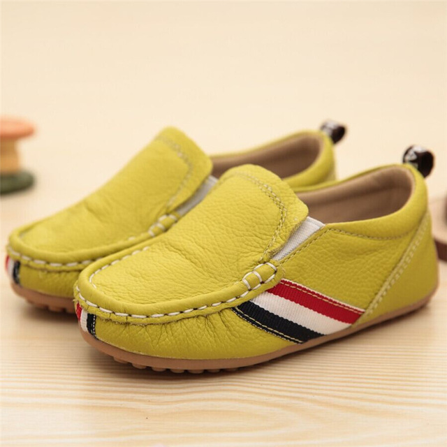 2016 New Children's Leather Shoes Children's Shoes Spring Doug Casual Soft Bottom Boy Toddler Flat Dance Peas Baby boys 1-3years