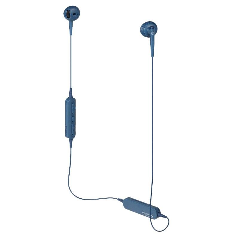 Originele Audio Technica ATH C200BT Bluetooth Oortelefoon Draadloze Sport Half oor Fllat Hoofd Hals Opknoping Oortelefoon - 5