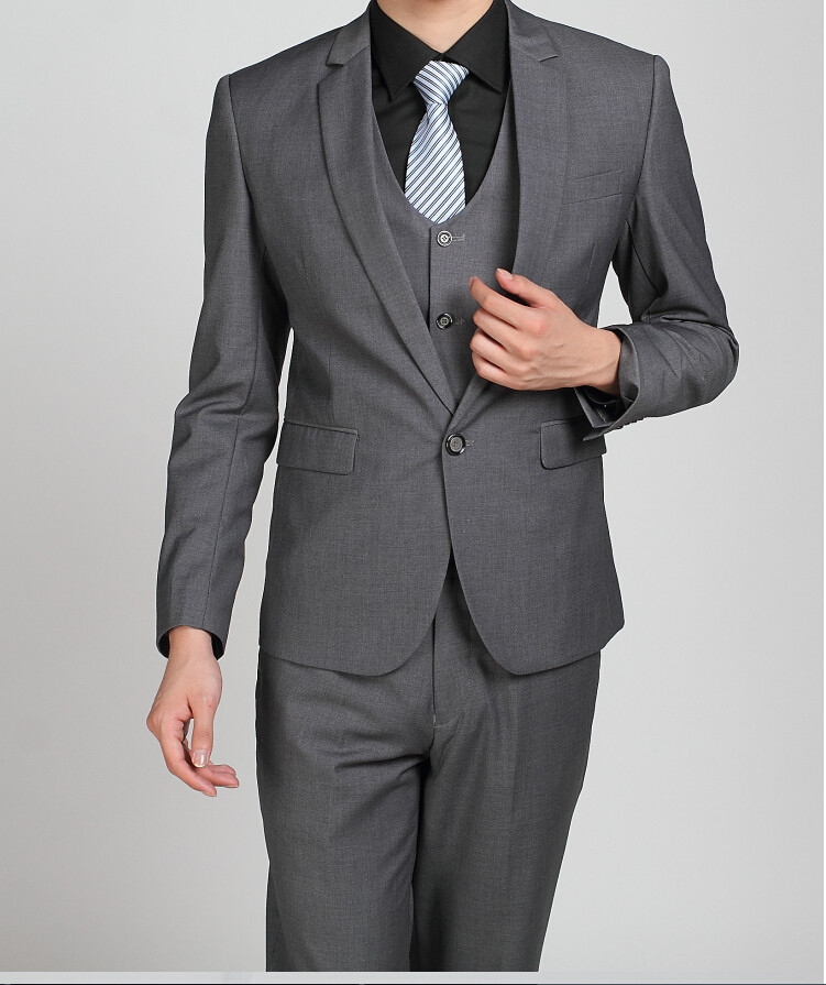 Los hombres baratos trajes de la marina de guerra Slim Fit Tuxedos - Ropa de hombre - foto 3