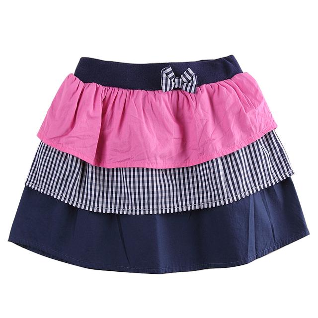 Crianças mini vestido nova marca do bebê da saia da menina com arco Em Camadas saia impressão xadrez breve bonito meninas mini saia M5923